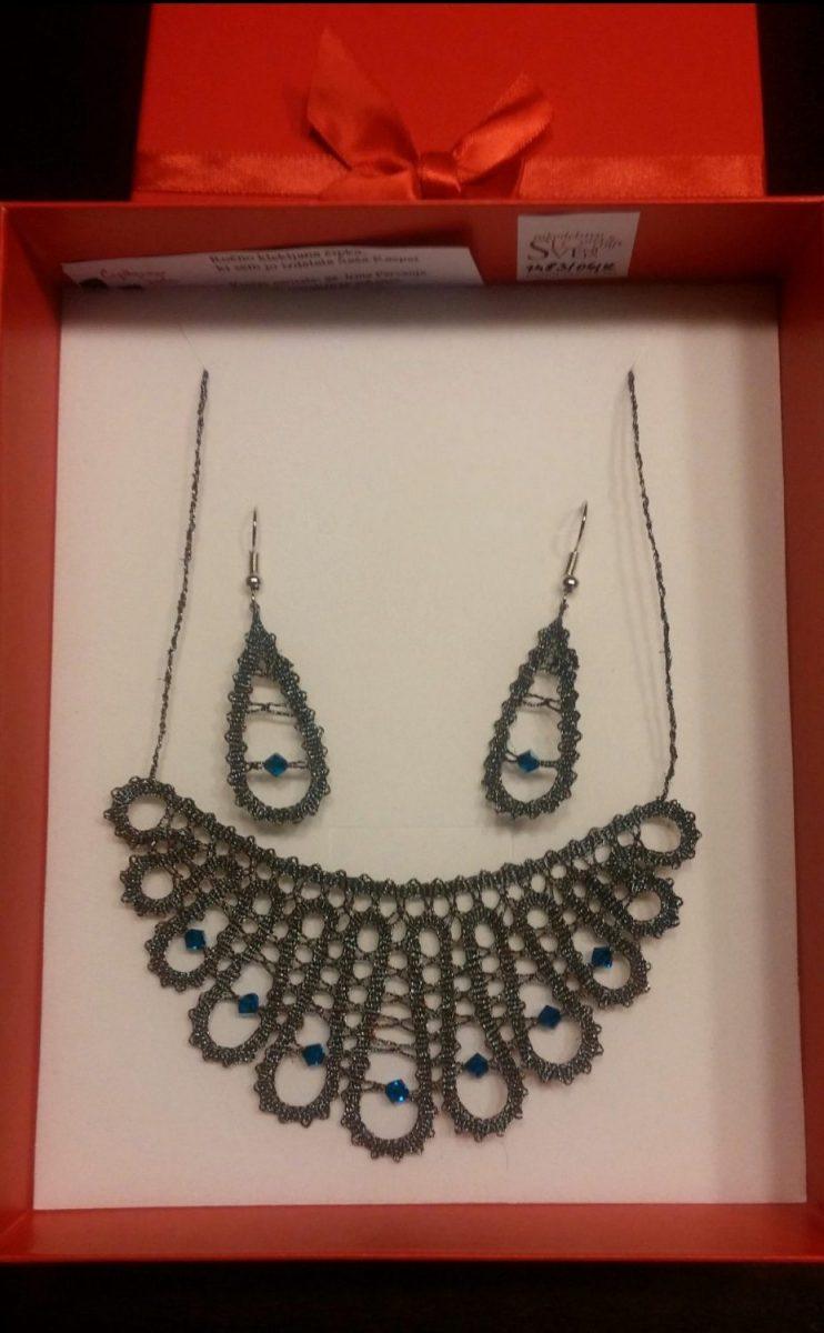 Komplet KAPLJE - ogrlica s uhani